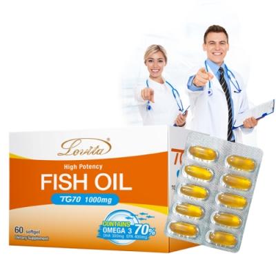 (即期品)Lovita愛維他-TG70魚油腸溶膠囊1000mg 60顆-效期至2022/2/1