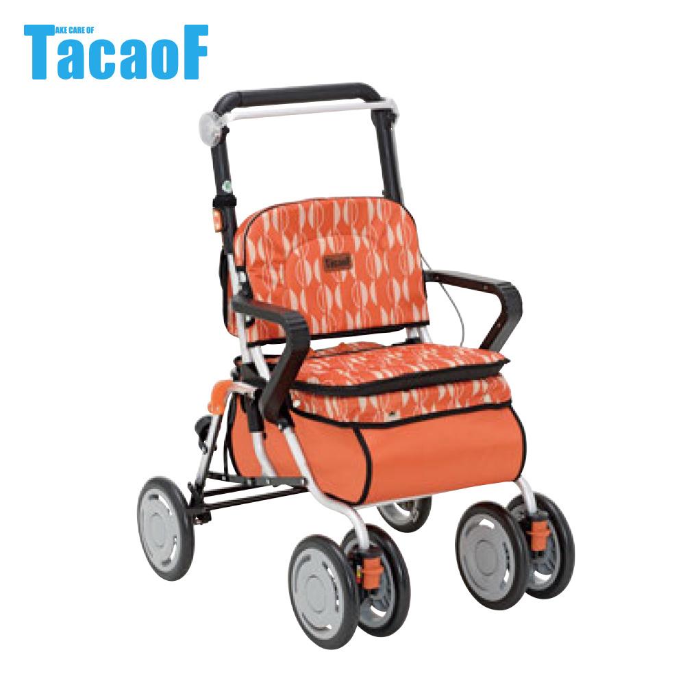 日本TacaoF幸和 標準型助步車-橘色北歐風