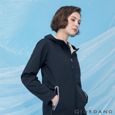 GIORDANO 女裝高機能素色連帽外套 - 09 黑