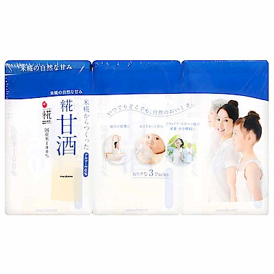 marukome 無酒精甘酒風味米麴飲料三入(375ml)