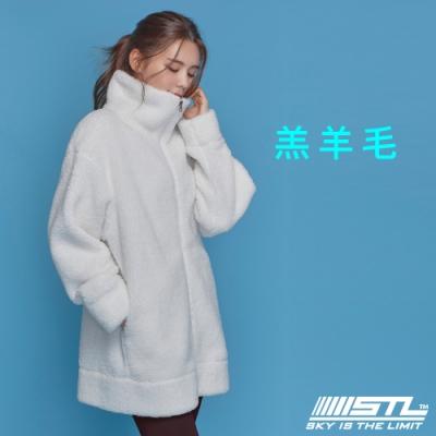 STL Bosong Metro Zip up 韓國 羔羊毛 運動休閒立領長版保暖外套 雪花白