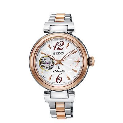 SEIKO 精工LUKIA 甜美簍空時光機械腕錶SSA806J1/4R38-01L0C