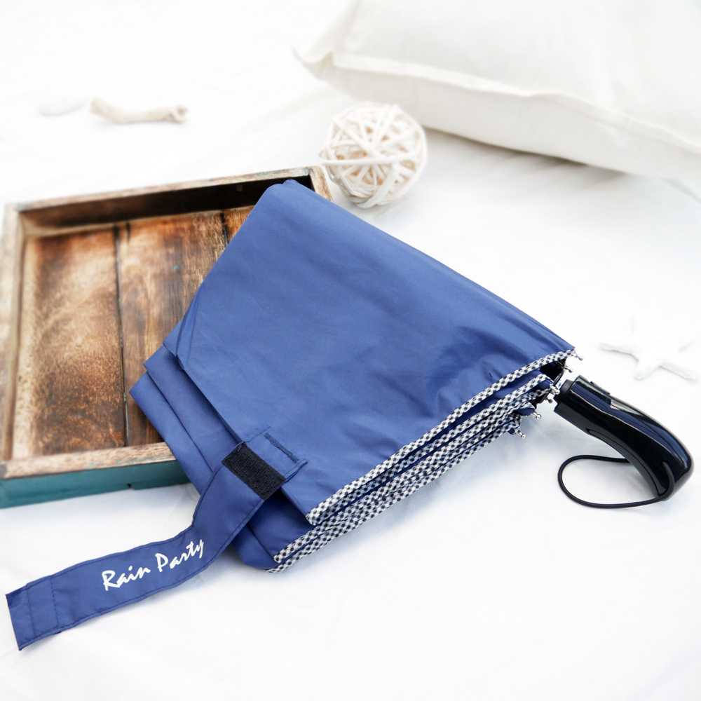 好傘王 自動傘系-英式格紋大大傘(深藍色)