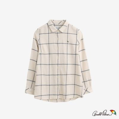 Arnold Palmer -女款-都會感格紋法蘭絨襯衫-白色