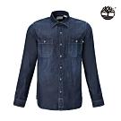 Timberland 男款牛仔藍經典休閒襯衫|A2BD9