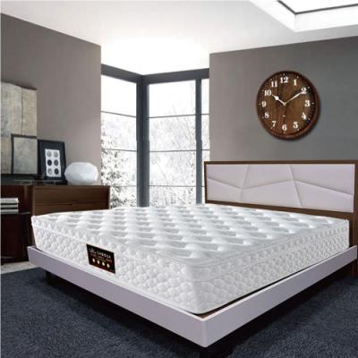 Albert艾柏 正三線天絲涼感PU護邊6尺雙人加大獨立筒床墊-180x188x24cm