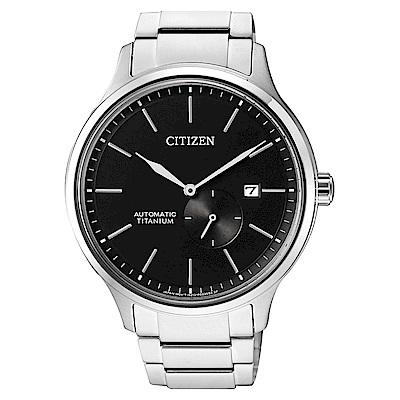 CITIZEN 星辰錶 GENT S限量機械腕錶-黑NJ0090-81E