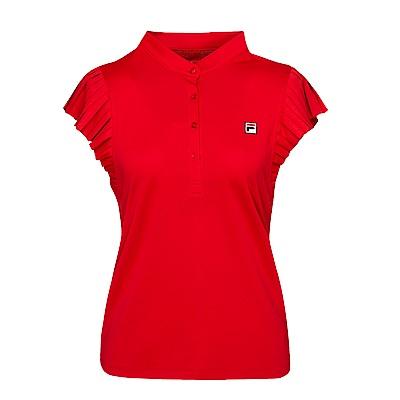 FILA女抗UV吸濕排汗背心-紅 5TKS-5006-RD