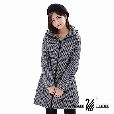 【遊遍天下】女款長版顯瘦防風防潑禦寒羽絨外套GJ22020黑格