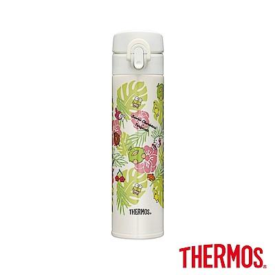 THERMOS膳魔師 三麗鷗家族x熱帶水果鳥 超輕量彈蓋瓶0.4L(JNI-401)