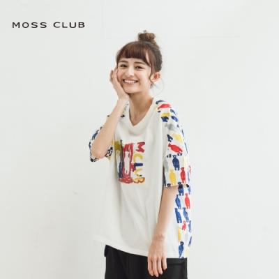 【MOSS CLUB】台灣製彩繪黑熊家族-上衣(藍色)