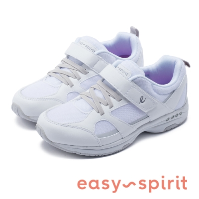 Easy Spirit-SETREBLE3  輕量系列 素面魔鬼氈彈力休閒鞋-白色