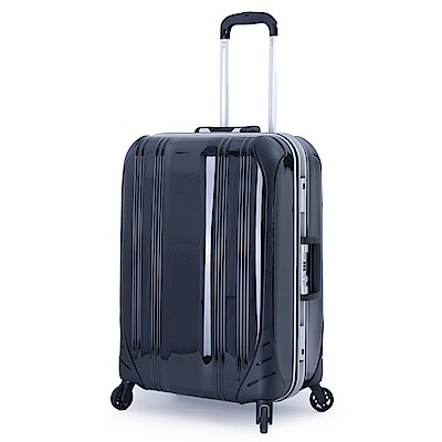 DF travel - 簡奢風華極光鏡面鋁框24吋行李箱-共4色
