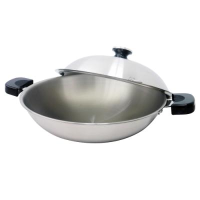 LOYANO羅亞諾SUS#316不鏽鋼七層複合金雙耳炒鍋36cm LY-058