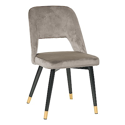 Boden-奧蘿拉質感絨布面餐椅/單椅(兩色可選)-46x49x82cm