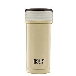 [限時下殺]IKUK艾可 陶瓷保溫杯火把款350ml-可可咖