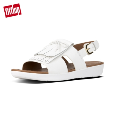 FitFlop H-BAR FRINGE SANDALS 都會白
