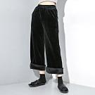 個性保暖金絲絨加絨寬鬆闊腿褲L-2XL(共二色)-CLORI