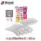 【任選】日本《Richell-利其爾》寶寶副食品冷凍分裝盒(25ML*8格/兩片)