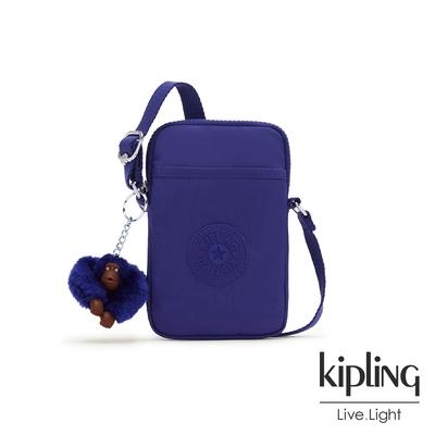 Kipling 氣質琉璃藍可愛長方形小包-TALLY