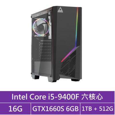 技嘉B365平台[火雲武士]i5六核GTX1660S獨顯電玩機