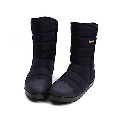 【AIRKOREA韓國空運】正韓超保暖防風鋪棉內鋪毛中筒雪靴-藍
