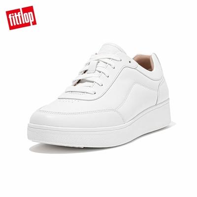 【FitFlop】RALLY SUEDE SLIP-ON SNEAKERS 易穿脫時尚休閒鞋-女(都會白)