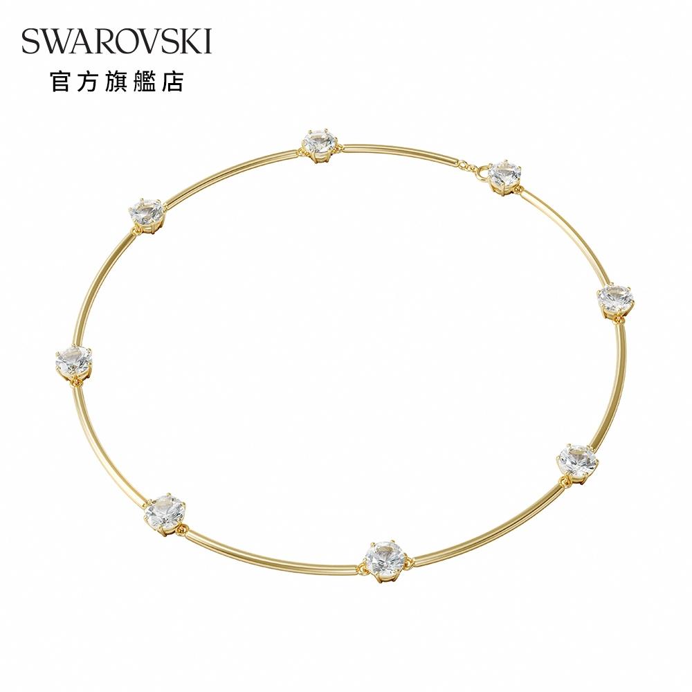 SWAROVSKI 施華洛世奇 CONSTELLA 淡金色白水晶宇宙氣息頸鍊