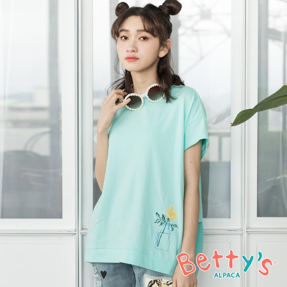 betty's貝蒂思 前印透明花瓶後刺繡T-shirt(淺綠) @ Y!購物