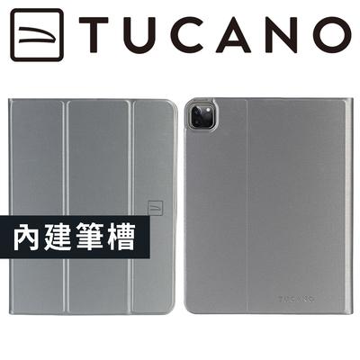 義大利 TUCANO Link iPad Pro 12.9吋 (2021/5代) 專用金屬質感抗摔保護殼 - 太空灰