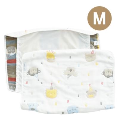 奇哥 動物派對六層紗大枕巾