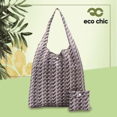 英國ECO 時尚摺疊購物袋-幾何(100%再生環保纖維布料)(快)