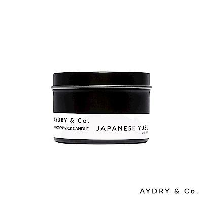美國 AYDRY & CO. 日本柚子 天然手工木芯香氛 錫盒85g