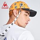 le coq sportif 法國公雞牌七龍珠聯名款 裝飾織帶透氣運動鴨舌帽 橘