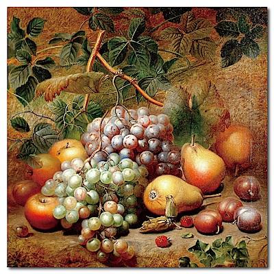 24mama掛畫-單聯式方型 水果無框畫-飽滿-50x50cm