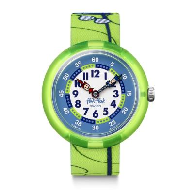 FlikFlak 兒童錶 SK8FROG 滑板小青蛙-31.85mm
