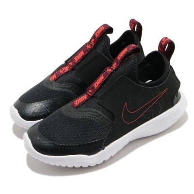 Nike 休閒鞋 Flex Runner SE 運動 童鞋 襪套 輕便 舒適 透氣 簡約 球鞋 中童 黑 紅 CZ6530001