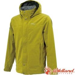 Wildland 荒野 W3912-40芥墨黃 男單件式防水透氣外套