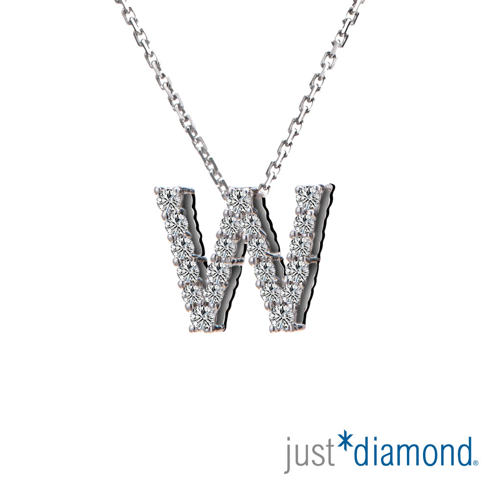 Just Diamond Love Words系列18K金鑽石墜子-W