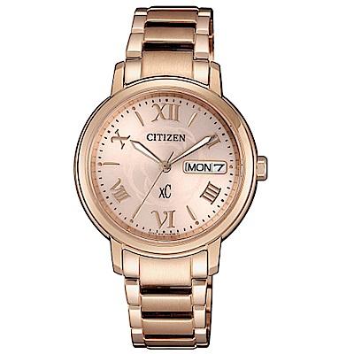 CITIZEN 星辰 XC 優雅花漾光動能時尚腕錶-EW2422-63W