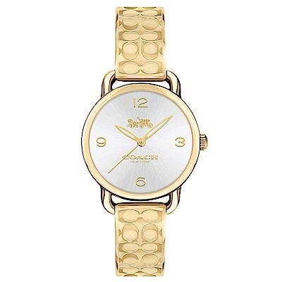 COACH 漫步優雅時尚logo手鐲腕錶/14502892