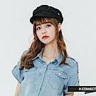 H:CONNECT 韓國品牌- 側logo簡約報童帽-黑