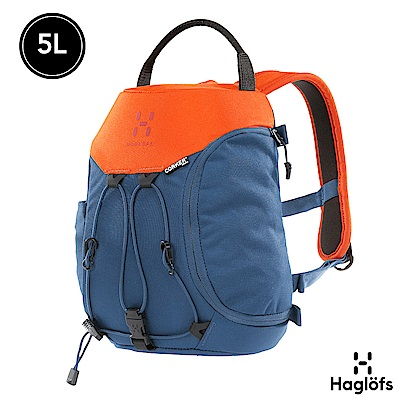 Haglofs 5L CORKER 多功能背包 XS 墨藍色/日落黃
