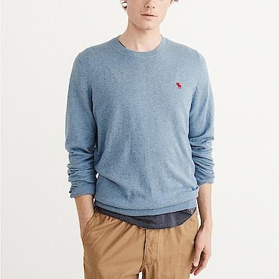 麋鹿 AF A&F 經典麋鹿刺繡標誌毛衣-水藍色