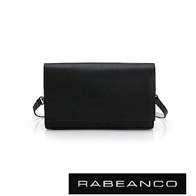 RABEANCO 迷時尚系列多夾層小方包 -鋼琴黑
