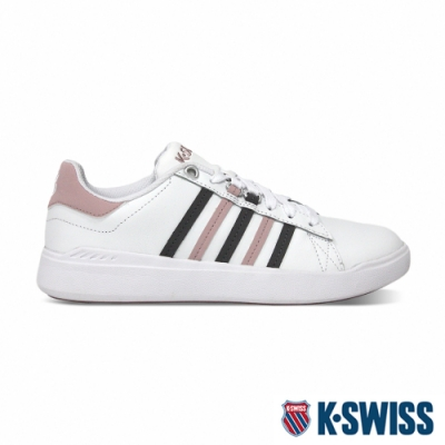K-SWISS Pershing Court 輕量休閒運動鞋-女-白/粉紅/灰