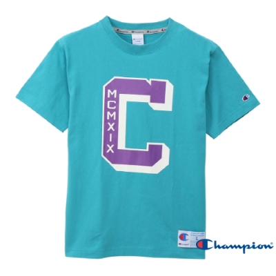 Champion AS 印花短Tee 藍綠色