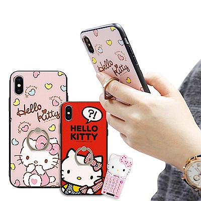 iStyle iPhoneX Hello Kitty 指環手機殼