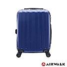 AIRWALK - 海岸線系列 BoBo經濟款ABS硬殼拉鍊20吋行李箱 - 晝日藍