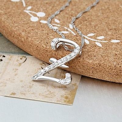 米蘭精品 925純銀項鍊-時尚簡約Z英文字母